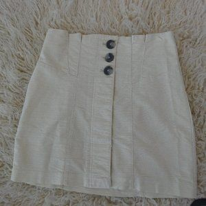 Free  People Stretch Cotton Paperbag high waist 8